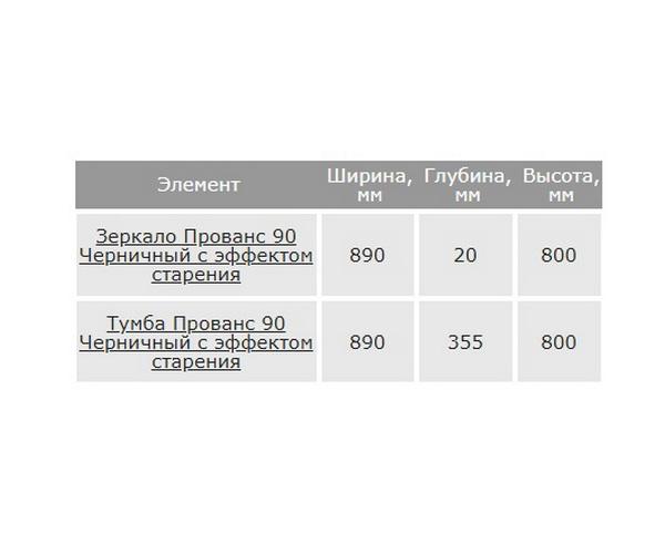 тумба с раковиной НОРТА ПРОВАНС 90