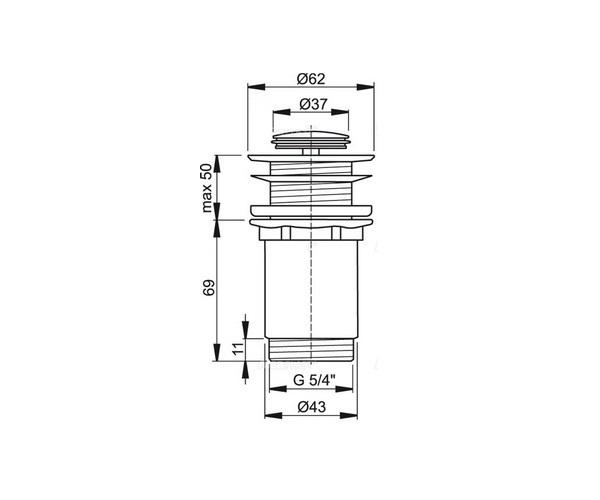 донный клапан ALCAPLAST A394