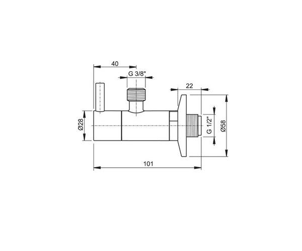 угловой вентиль ALCAPLAST ARV001