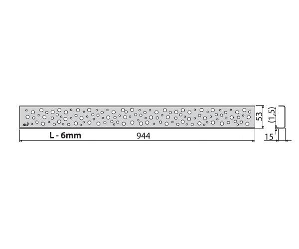 крышка душевого канала ALCAPLAST BUBLE-950L