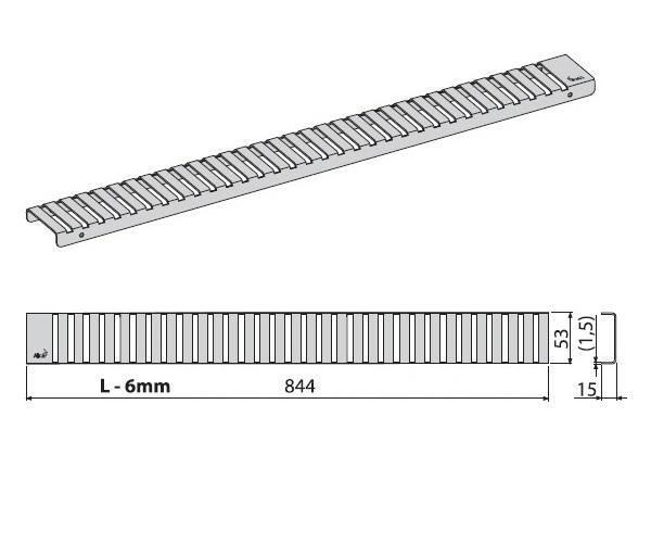 крышка душевого канала ALCAPLAST LINE-850L