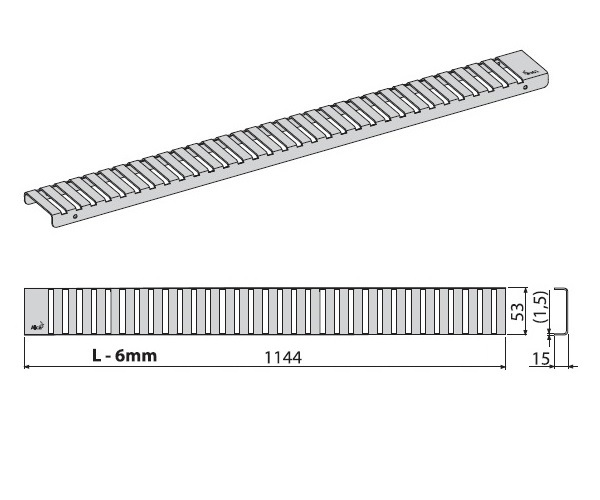 крышка душевого канала ALCAPLAST LINE-1150L