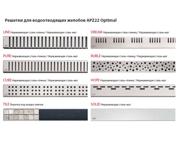 душевой канал ALCAPLAST APZ22-950