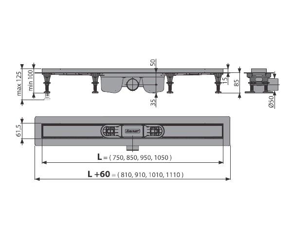 душевой канал ALCAPLAST APZ12-1050