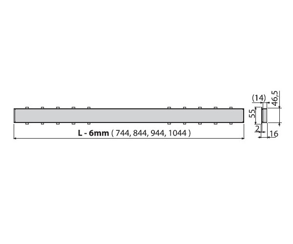 крышка душевого канала ALCAPLAST TILE-1050