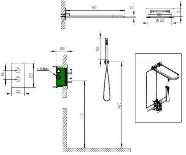 душевая система AQUANET ML8003