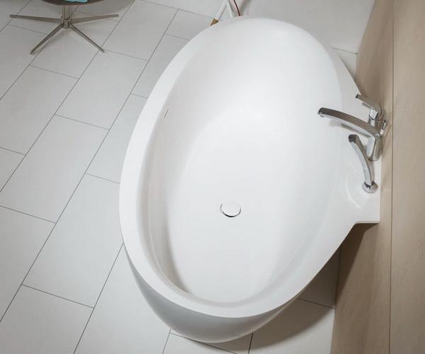 ванна из литьевого мрамора BALTECO FLO WALL 169х94