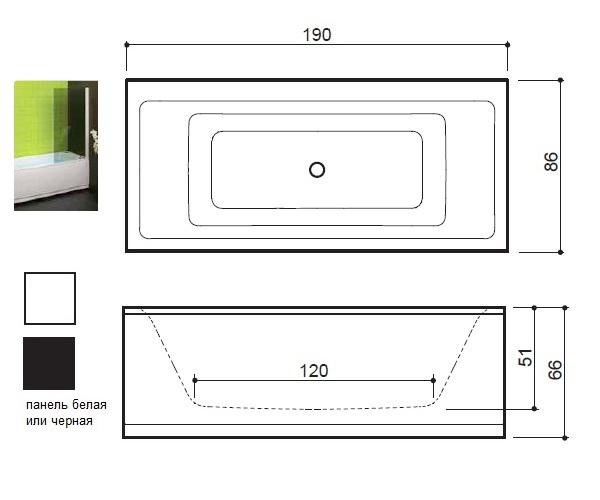 ванна акриловая BALTECO FORMA 190х86