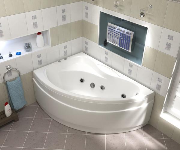 ванна акриловая BAS ВЕКТРА 150х90