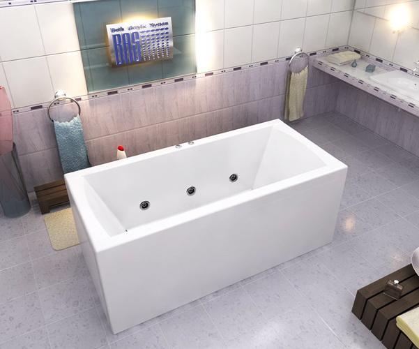 ванна акриловая BAS ИНДИКА 170х80
