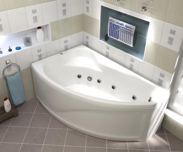 ванна акриловая BAS НИКОЛЬ 170х100