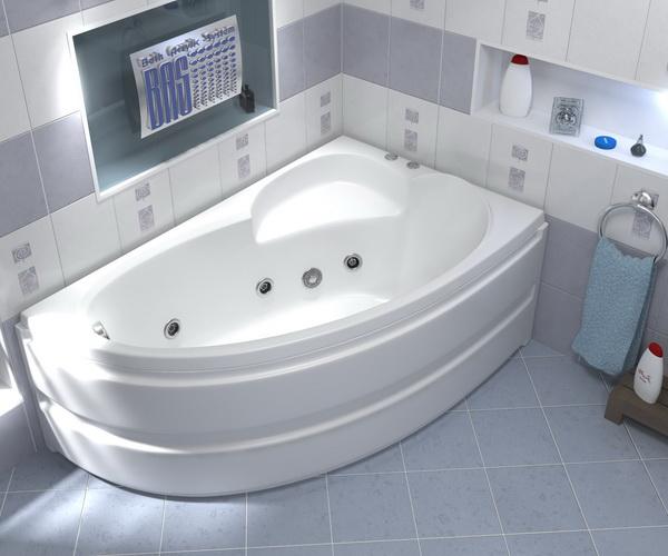 ванна акриловая BAS САГРА 160х100