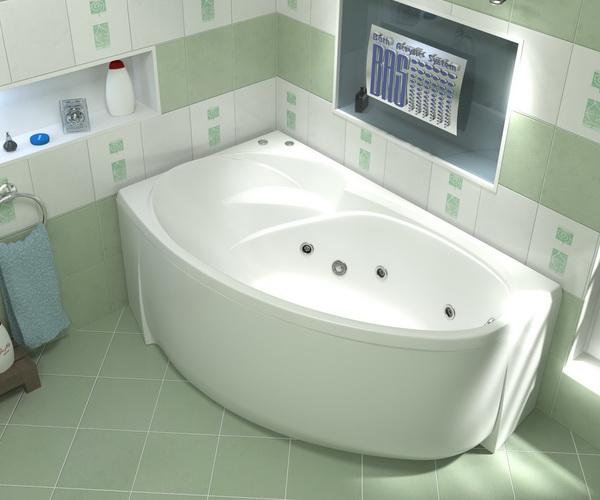 ванна акриловая BAS ФЛОРИДА 160х90
