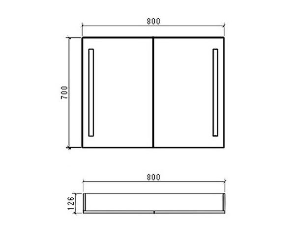 зеркало-шкаф BELBAGNO SPC 80