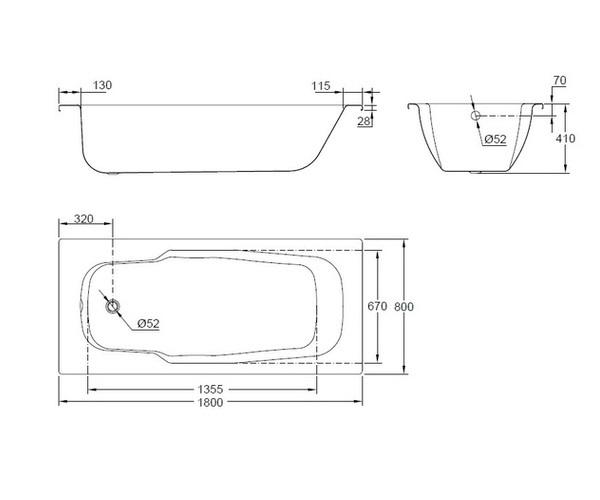 ванна стальная BLB ATLANTICA 180х80