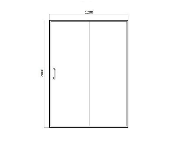 душевая дверь BRAVAT DROP 120