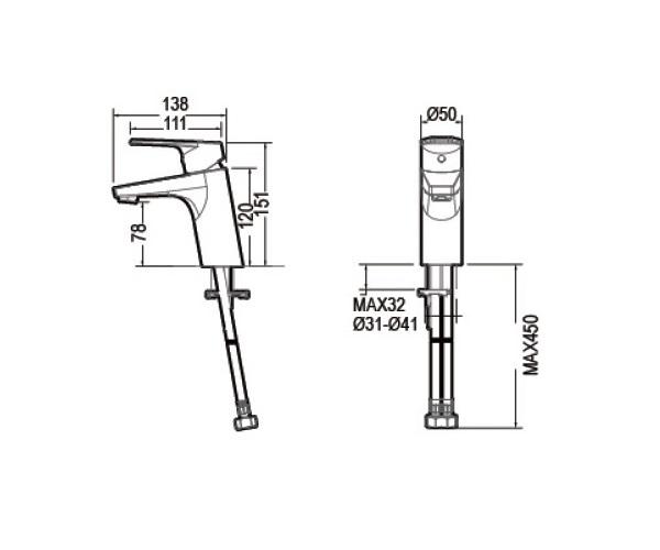 смеситель для раковины BRAVAT LINE