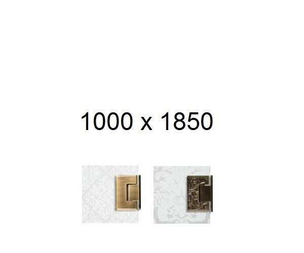 душевая дверь BRONZE DELUXE 100