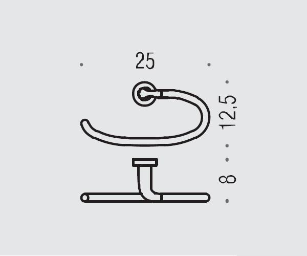 полотенцедержатель COLOMBO BASIC