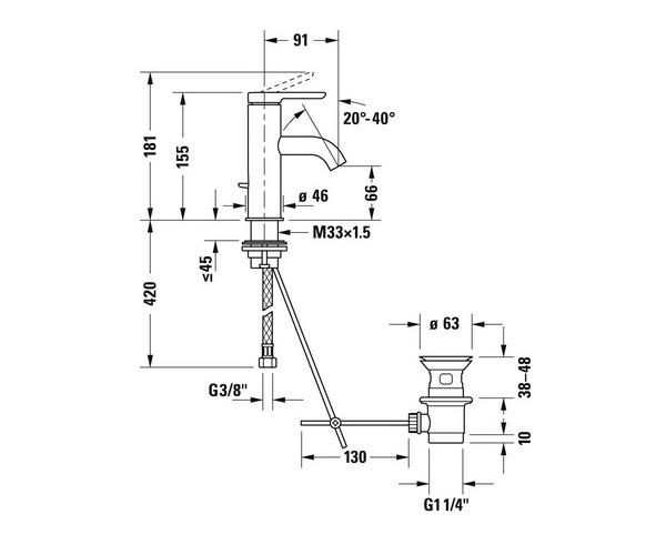 смеситель для раковины DURAVIT C.1