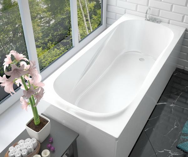 ванна из литьевого мрамора ЭСТЕТ АЛЬФА 180х80