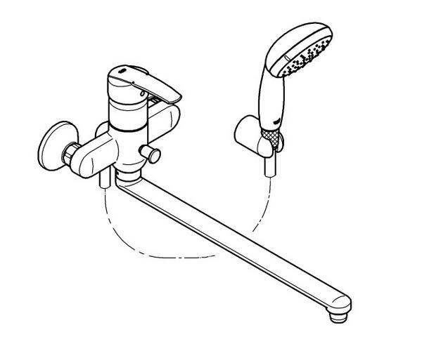 смеситель для ванны GROHE MULTIFORM