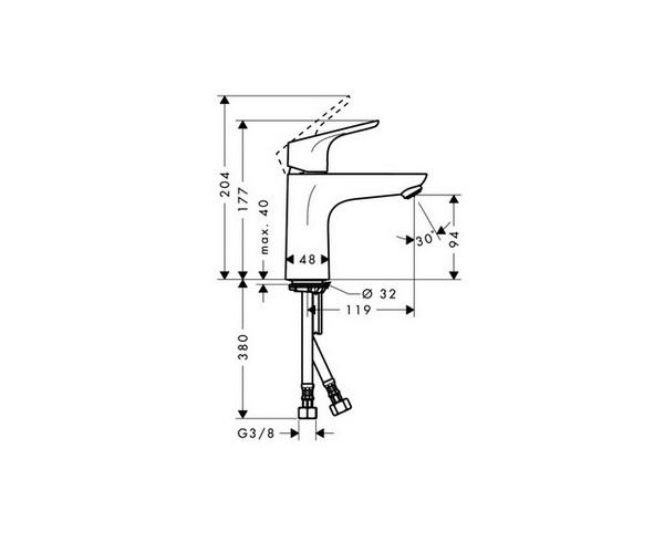 смеситель для раковины HANSGROHE FOCUS