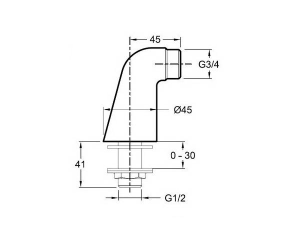 комплект для вертикального монтажа JACOB DELAFON