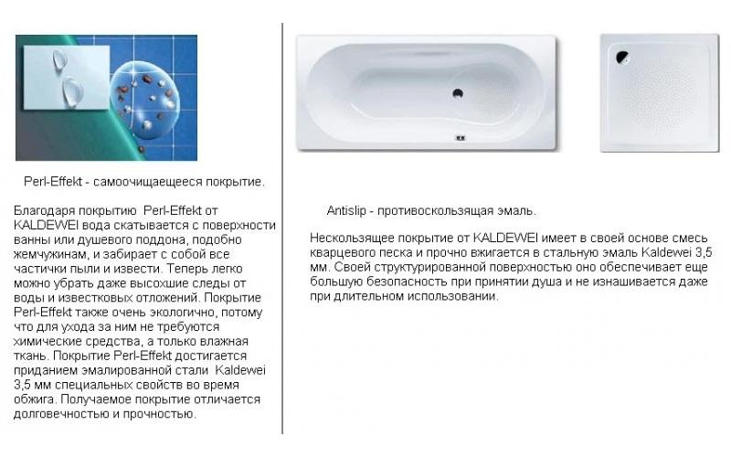 шумопоглощающие накладки для ванн KALDEWEI