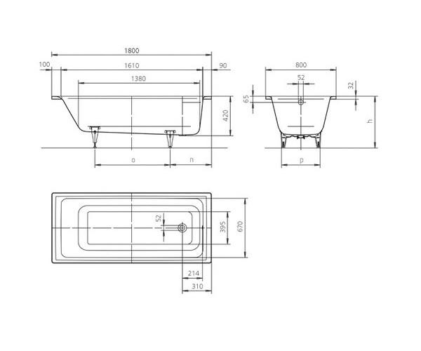 ванна стальная KALDEWEI PURO 180х80