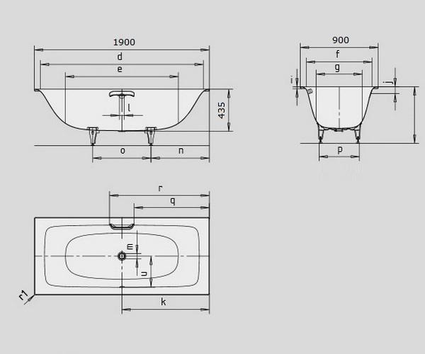 ванна стальная KALDEWEI SILENIO 190х90