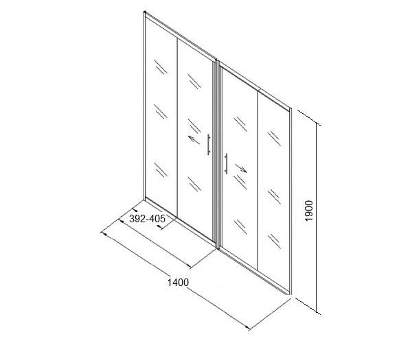 душевая дверь KOLPA-SAN Q-LINE 140