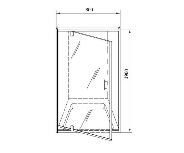 душевая дверь KOLPA-SAN Q-LINE 80
