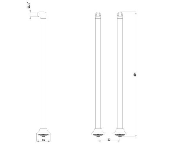 комплект колонн LEMARK LM8565C