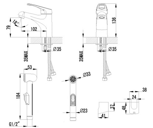 смеситель для раковины LEMARK OMEGA