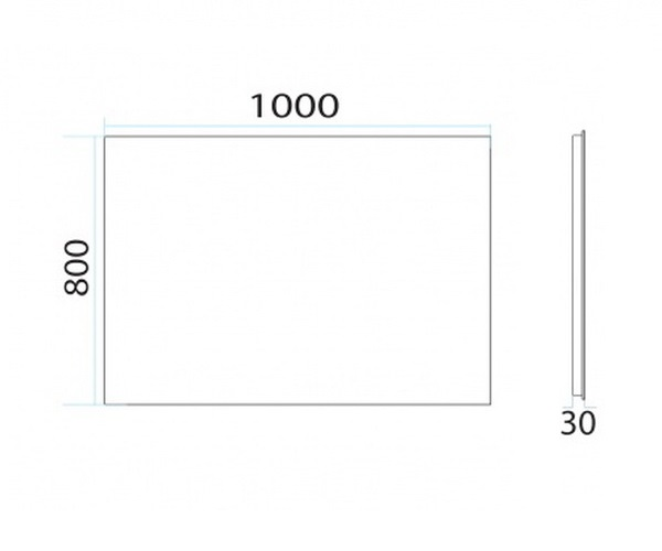 зеркало MISTY НЕОН-2 100