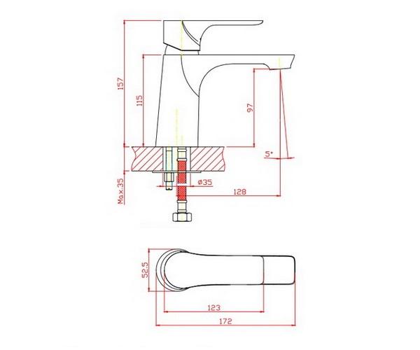 смеситель для раковины ORANGE ARISTO