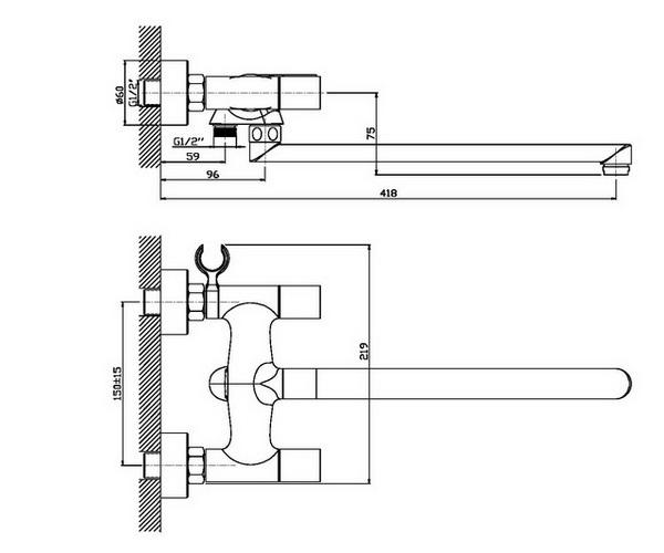 смеситель для ванны ORANGE FENIX