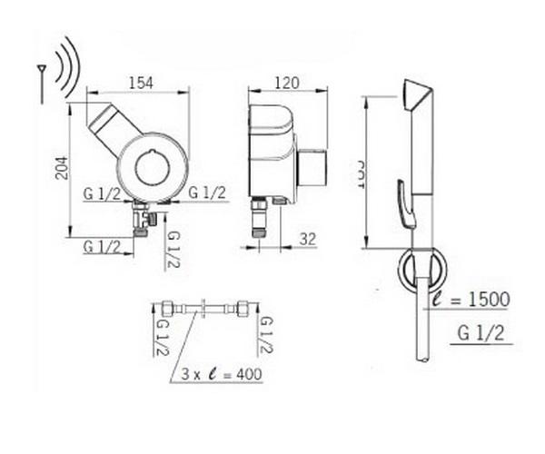 гигиенический набор ORAS OPTIMA SMART BIDETTA