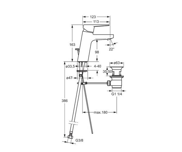 смеситель для раковины ORAS TWISTA XL