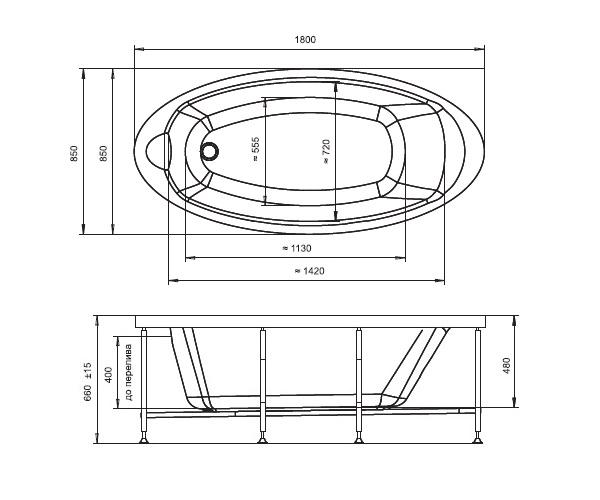 ванна акриловая RADOMIR НЕАПОЛИ 180х85
