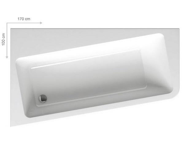 ванна акриловая RAVAK 10° 170х100