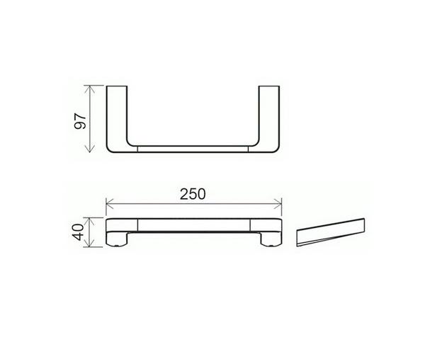 полотенцедержатель RAVAK 10°