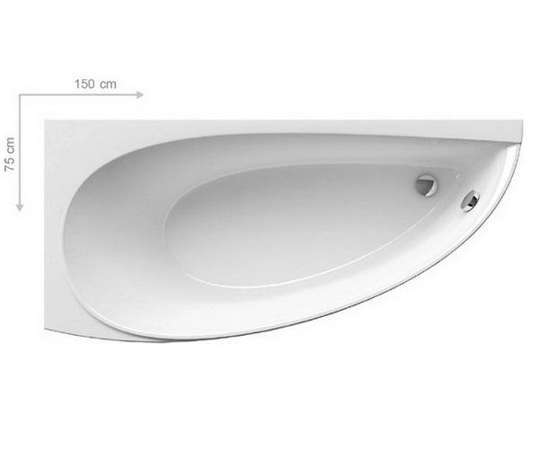 ванна акриловая RAVAK AVOCADO 150x75