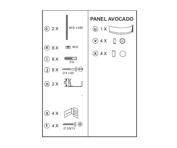 панель RAVAK AVOCADO 150 фронтальная