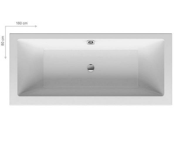 ванна акриловая RAVAK FORMY 01 180х80
