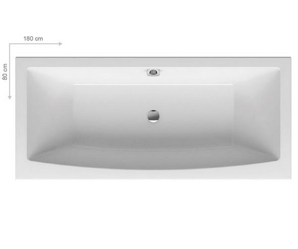 ванна акриловая RAVAK FORMY 02 180х80