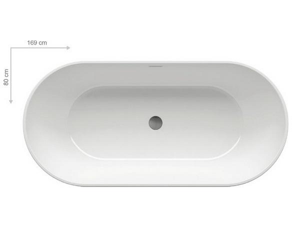 ванна акриловая RAVAK FREEDOM 169x80