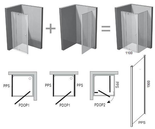 душевая дверь RAVAK PIVOT 110