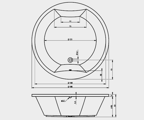 ванна акриловая RIHO COLORADO 180х180